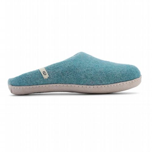 Men's Wool Slippers - Sea Blue